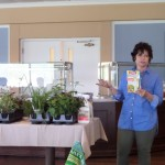 Peggy, from Garvin Gardens, demonstrating how to put together beautiful Spring arrangements.