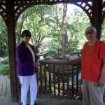 Marion and Ellen enjoying a walk at the Woodstock Garden.