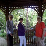 Marilyn, Marion and Ellen enjoying a walk at the Woodstock Garden.