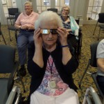 Resident Dee McIntyre was glad to stay inside and enjoy the eclipse!