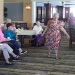 Resident Nancy Shelton loved the opportunity to strike a pose on the runway!