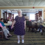 Resident Nancy Doyle enjoyed every minute of showing off this adorable dress to everyone!