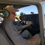 Former Pilot, Gus Tuit, enjoying someone else doing the flying for once!