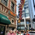 The residents outside of Harry Caray's Restaurant.